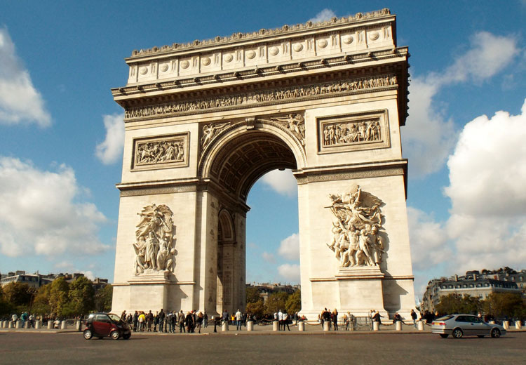 The Champs-Élysées and the Arc de Triomphe